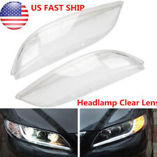Pair For Mazda 6 2003-2008 Replacement Headlight Headlamp Lens Cover Clear Shell (Fits: Mazda)
