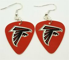 NFL Atlanta Falcons Guitar Pick Earrings with Surgical Steel Earwires