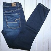 "AMERICAN EAGLE SUPER STRETCH DARK WASH HI-RISE (9"") JEGGING -SIZE 6 REG"