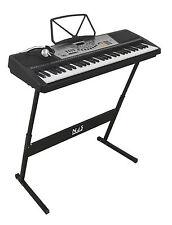 Njs 61 KEY Digital Portable TASTIERA PIANOFORTE Rete & BATTERIA PORTATILE CON STAND Z