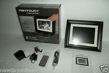 "Pandigital 8"" LCD Digital Photo Frame 800x600 512MB On/Off Alarm 4:3 PAN8002W02T"