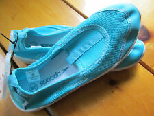 NEW Speedo Swim Knit Beach Water Shoes Womens Size Medium 7/8 Aqua Blue