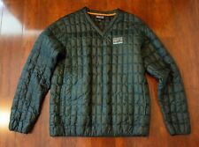 Patagonia Recycled Down Pullover V-Neck Jacket Carbon Green (Size M)