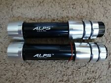 2 Rod Building Wrapping Alps Centralock Black and silver size 22 Aluminum seats