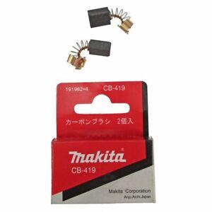 GENUINE MAKITA CARBON BRUSH SET PAIR CB-419 CB419 191962-4 -
