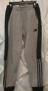 Adidas Boys 10/12 Gray Athletic Pants Joggers drawstring
