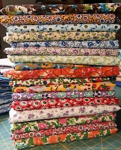 Quilt Fabric Bundle. 18 cotton half yard prints (18x44 inches). 9 yards. Lot 1.