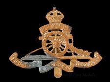 Royal Artillery cap badge gilding metal King's crown, with strengtheners