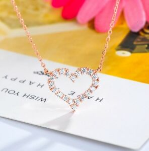YCHZX Delicate Key with Crystal Zircon Shape Women Necklace Fashion Jewelry Shiny Versatile Style Love Gift-Silver Plated/_45cm 5cm