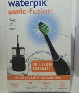 Waterpik Sonic-Fusion Flossing Toothbrush w/ 3 Modes - Black- BRAND NEW