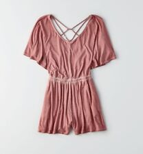 New Women's American Eagle Casual Short Sleeve Relaxed Fit Romper Size S