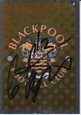 GARY TAYLOR FLETCHER HAND SIGNED BLACKPOOL 2007 PANINI CHAMPIONSHIP CARD.