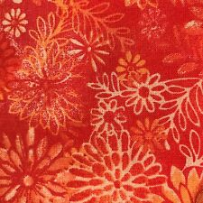 Fabric Quilt Backing 108 inch wide by the yard 100% Cotton Orange Free Shipping