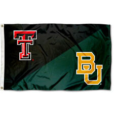 Texas Tech vs. Baylor House Divided 3x5 Flag Banner