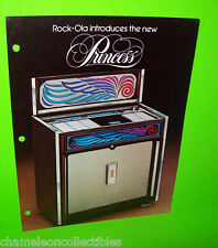 "ROCKOLA 467 ""New Princess"" ORIGINAL 1977 JUKEBOX PROMO SALES FLYER ROCK OLA"