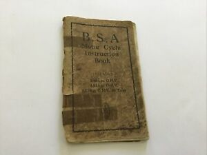 BSA 1930 Motorcycle Instruction Book 3.49 & 4.93 Models