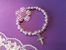 First Holy Communion Bracelet, Child's Cross Bracelet, Bridesmaid Bracelet