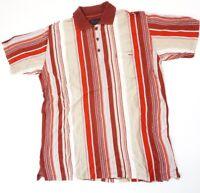 Carlo Colucci Poloshirt Herren Gr.3XL rot gestreift -S1209