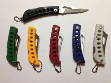 """1 New-Frost Cutlery - 5"""" Folding Knife - Red, Yellow, Green, Blue, Black or Grey"""