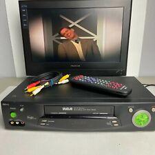 New ListingRca Vr702Hf 4-Head Hi-Fi Vhs Video Cassette Recorder w/Remote - Tested