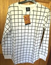 Mens Grid Checked Sweatshirt