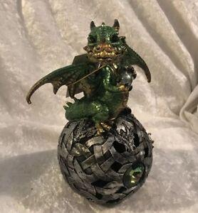 Green LED Dragon On Orb .. BNIB