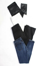 Zara Women's Cropped Skinny Flare Jeans White Blue Black Size 36 26 Lot 4