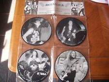 """metallica 4 x vinyl 7"""" interview picture disc in hanging display limited edition"""