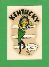 "VINTAGE ORIGINAL 1950 SOUVENIR ""MISS KENTUCKY"" STATE SEXY PINUP WATER DECAL ART"