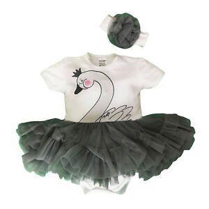 "Baby Girls 2Pcs ""TUTU"" SET Bodysuit &Headband Outfit Babygrow3-6/6-9/9-12/12-18"