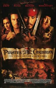 Pirates Of The Caribbean movie poster - Curse of the Black Pearl, Johnny Depp