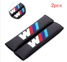 2PCS Carbon Fiber Car Seat Belt Cover Pad Shoulder Cushion Embroidery BMW ///M