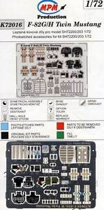Mpm - F-82G/H Twin MUSTANG Cockpit Seatbelts Pe Kit Etched Parts 1:72 Model Kit