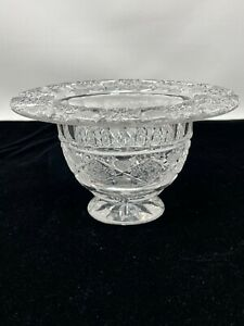 Hawkes American Brilliant Cut Glass Footed Bowl Signed