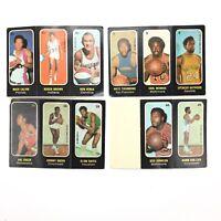 1971 1972 Topps Trios BASKETBALL STICKER Cards