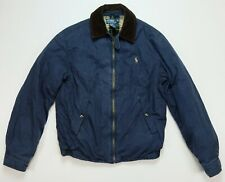 Rare VTG POLO RALPH LAUREN Small Pony Flannel Lined Bomber Puffer Jacket 90s S
