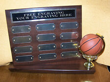 FANTASY BASKETBALL STAND UP PERPETUAL PLAQUE TROPHY AWARD -FREE ENGRAVING! NICE!