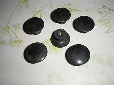 Bouton lentille de style  noir  ,meuble, commode, tiroir, diamètre 2,5 cm