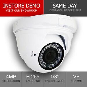 Securenet 4MP Onvif Varifocal 2.8-12mm IP CCTV Camera Outdoor Night Vision Dome