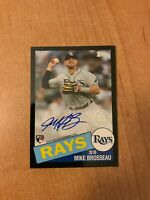 2020 Topps Update - Mike Brosseau - Black 1985 Rookie On Card Auto #d /199 RAYS