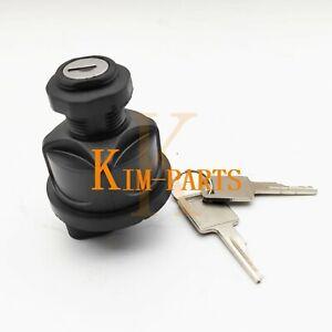 IGNITION SWITCH W KEYS 6693245 For Bobcat E26 E32 E35 E351 E42 E45 E50, E55, E85