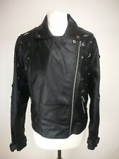 Simply Be Womens Faux Leather Jacket, Size 16, Black, Good Condition