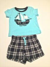 Baby Boys Tee & Shorts Set 'Daddy's First Mate' Size 6 Months New