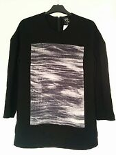 Alexander McQueen McQ panelled drop sleeve top BNWT UK8-10