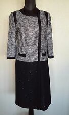 St. John Couture Navy Gray With Sequin Melange Jacket Sz 4