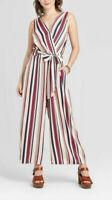 Xhilaration Women's Striped V-Neck Belted Wrap Jumpsuit, Size XXL, $30, NwT