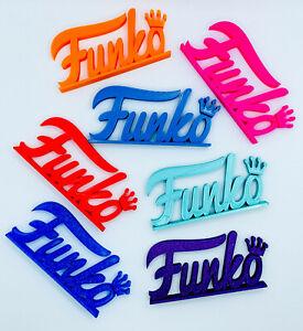Funko Pop Vinyl Logo Display Shelf Sign Wall Art Custom Colours Glow In Dark