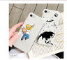 CASE CARTOON FUNNY IPHONE 6 S XS Max 7 8 Plus XR XS X 10 SILICON TPU TRANSPARENT