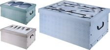 Lovely Large Contemporary Design Cardboard Storage Boxes with Lids & Handles