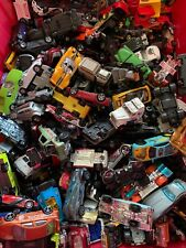 Huge lot 140 Used Matchbox Hot Wheels & Other Brands Cars Trucks Flat Rate Box